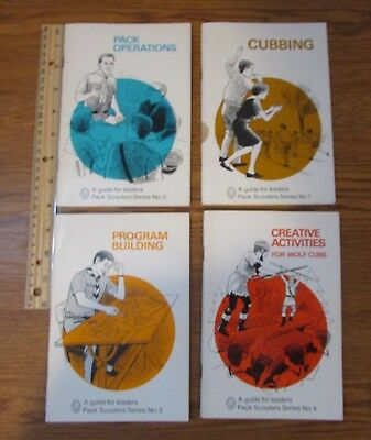 4 Vintage 1960s? Guide for Leaders Pack Scouters Books Boy Scouts Canada
