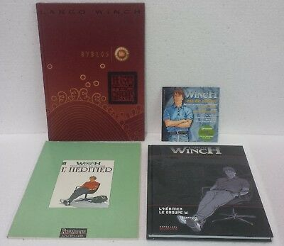 Largo Winch. P. Francq Jean Van Hamme lot de 3  BDs promo Hors Commerce et CD