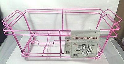 "2 Buffet Chafing Racks Food Warmer Wire Frame Stand Hot Pink 9"" x 12.5"" x 23"""