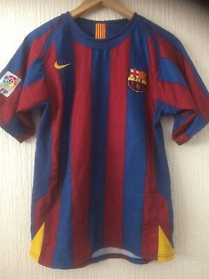 Barcelona F.c Nike Official Home Football Shirt  2005 / 2006... # 10 Ronaldinho