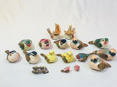 Bird Lot; 18 Colorful Birds; 1-3 Inches; Home Decor; Crafting; Design