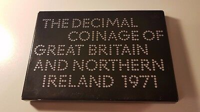 1971 Royal Mint Proof Coin Set Decimal Coinage of Great Britain Northern Ireland