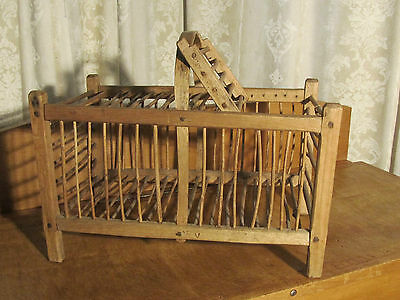 A French Rustic Chicken Coop Basket  Free delivery England & Wales
