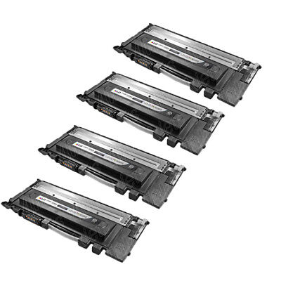 4PK CLT-K406S for Samsung 406s BLACK Toner Cartridge CLP-365W CLX-3305FW C460FW