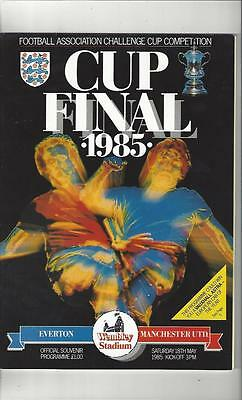 Everton v Manchester United FA Cup Final 1985 Football Programme