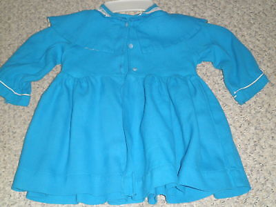 "Blue Coat dress~ Patti Playpal or Similar 35"" Doll Handmade Vintage ~VGC"