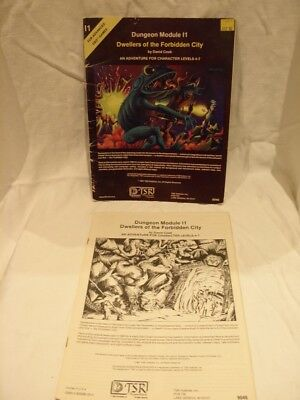 Advance Dungeons & Dragons Dungeon Module I1 Dwellers of the Forbidden City
