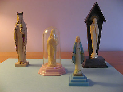 Four Vintage Statues (Jesus and Mary) from the 1960s