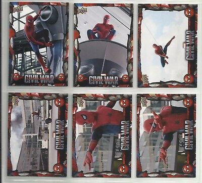 2017 WALMART Spider-Man Homecoming CIVIL WAR Complete Set of 11 Cards (CW1-CW11)