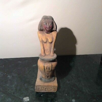 Rare Antique Ancient Egyptian statue Women Baking  Bread from wheat 1860-1770BC