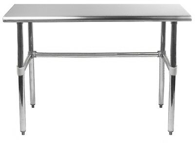"Stainless Steel Work Table With Open Base | 24"" x 36"" 
