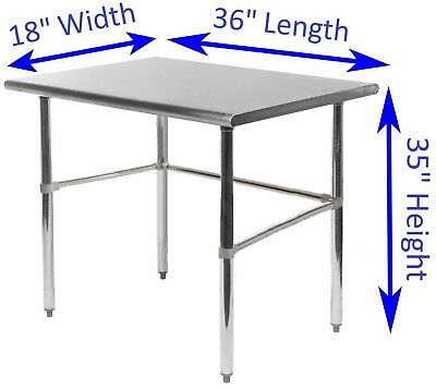 "Stainless Steel Work Table | 18"" x 36"" 
