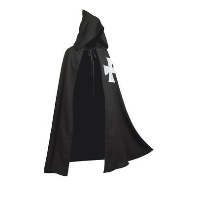 1pc Meidieval Knights Hospitaller Cloak/Cape Gothic LARP Cosplay Costume Gift
