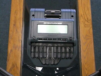 Stenograph Stentura 8000 court reporting machine,paper tray, charger, & tripod.