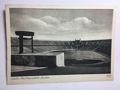 Postcard Authentic Berlin 1936 Olympics Reich Sportsfield Stadium Reichsportfeld