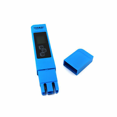 Blue EC-1 Water Quality Test Meter Digital Tool TDS + EC Temperature 0-9990 ppm