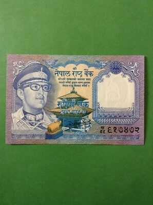 Old Nepal One Rupee Banknote Paper Money Good Collectable Item