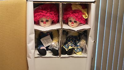 """Rosie & Rags 11"""" Porcelain Doll Set by Marie Osmond"""