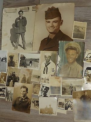 Lot Of Vintage Us Army Navy Military Photographs Soldier Base Camp Ww2 ? Korea ?