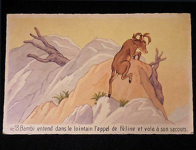 Walt Disney Bambi Vintage circa 1950s French Frameable Art Postcard