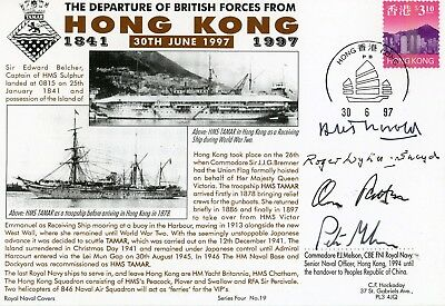 Hong Kong, First Day Cover, 1997 , Rare, British Forces Departure, Hms Tamar