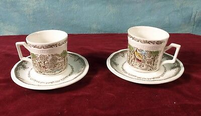 Shakespeare Sonnets ROMANTIC FOR 2 cups saucers Kensington Stafford Ironstone