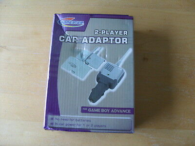 Game Boy Advance 2 Player In Car Charger Adaptor New & Unused + Free Uk Post