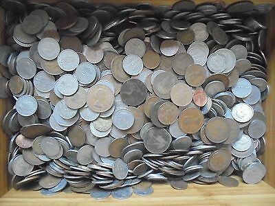 100 X English Coins! Mixed Lot Collection Of Old British Coins. U.k. Mix.....