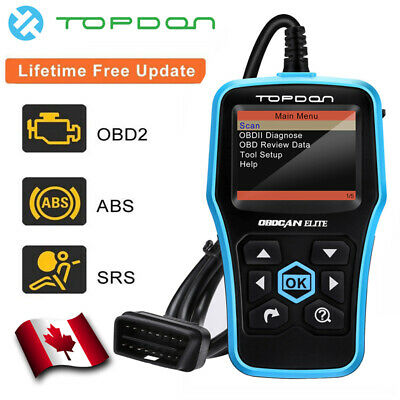 Topdon Ultrascan Elite OBD2 Car Diagnostic Tool SRS ABS MIL O2 Data Stream