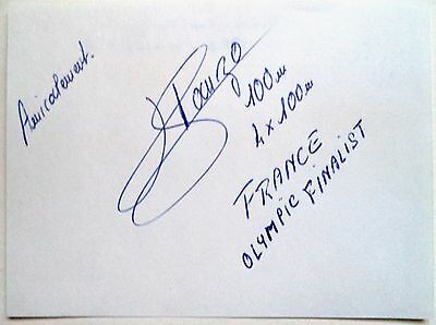 HERMANN PANZO 1980 OLYMPIC 4x100m BRONZE MEDAL WINNER - ORIGINAL INK AUTOGRAPH