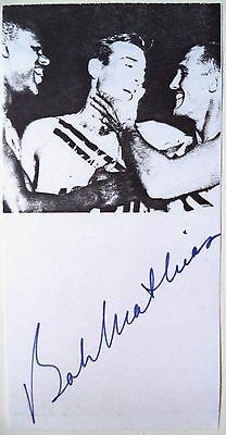 Bob Mathias 1948 & 1952 Olympic Decathlon Gold Medal Winner Original Autograph