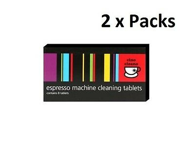 2PK BEC250 Espresso Coffee Machine Cleaner Cleaning Tablets Cino Cleano