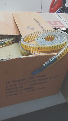 Galvanised 15 degree Coil Nails 2.5 X 32 mm