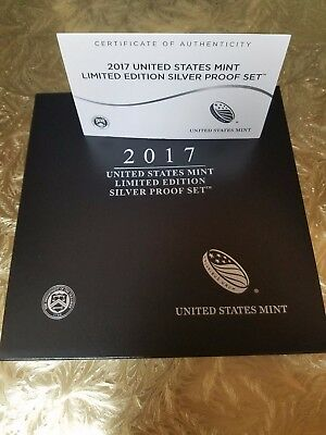 2017 United States Mint Limited Edition Silver Proof Set w/ 2017-s silver dollar