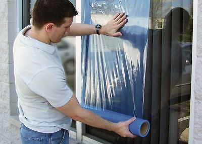 "Surface Shields 250 ft. x 24"" Polyethylene Window Protection Film, Blue -"