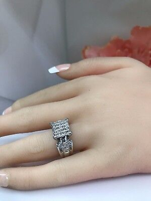 Ladies Diamond Invisible Set 1.75ctw  White Gold Ring #3241 CLOSE OUT