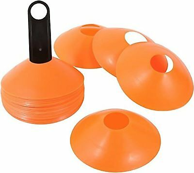 Trademark Innovations Plastic Disc Cone Sports Training Gear with Carrier Ora...