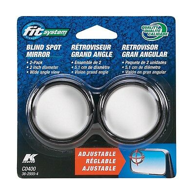 """Fit System C0400 2"""" Round Adjustable Mirrors - Sold as a Pair"""