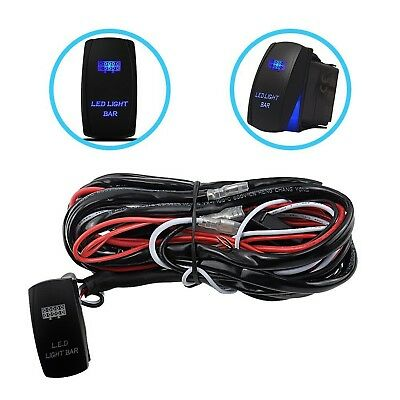 Liteway One-To-Two Universal LED Light Bar Wiring Harness Kits 24V/40A Relay ...