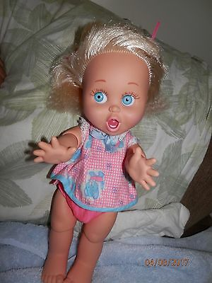 "GALOOB 1990-""So Suprised  Suzie"" #8 BABY FACE DOLL BLOND HAIR/ BLUE EYES"