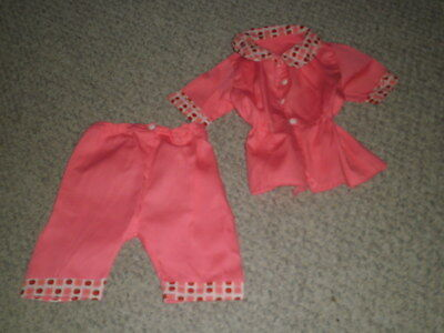 "2 Piece Pink Pant Set~ Patti Playpal or Similar 35"" Doll Handmade~ Vintage ~VGC"