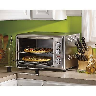 Kitchen Countertop Pizza Oven Steel Commercial Concession Electric W/ Rotisserie
