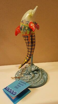 "DOLPHINS AROUND TOWN Dolphin Figurine ""The Villages at Bear"" Rehobath DE"