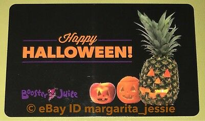 "Booster Juice HAPPY HALLOWEEN GIFT CARD ""Pineapple Pumpkin"" COLLECTIBLE NO VALUE"