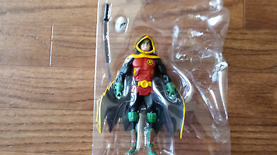 "DC Multiverse Damian Wayne Robin War 6"" Scale Action Figure LOOSE MINT Hood"