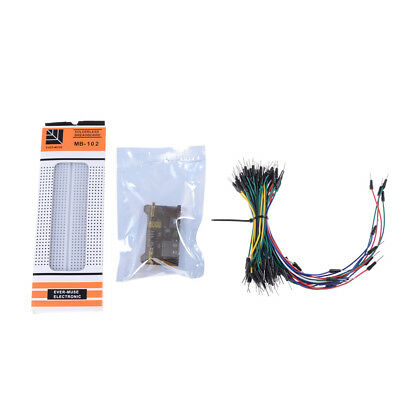 1set MB-102 Breadboard PCB Breadboard+Power Supply+65pcs Jump Cable Wires Z