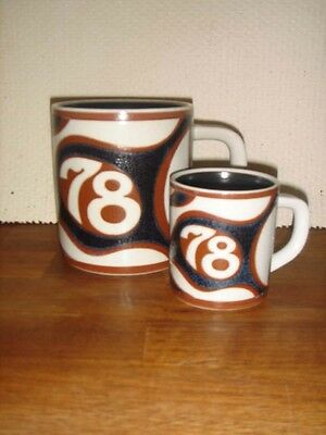 1978 large & small fajance ANNUAL MUGS ROYAL COPENHAGEN Bo Christiansen 1 class