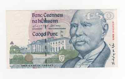 IRELAND: 50 pounds, Douglas Hyde, XF-