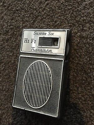Vintage SILICON SIX transistor AM RADIO portable Old Hand Radio Working