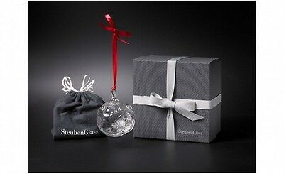 NEW STEUBEN Glass PEACE ON EARTH Crystal Christmas Ornament